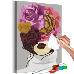 DIY canvas painting  Covered Eyes