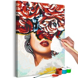 DIY canvas painting  Sweet Lips