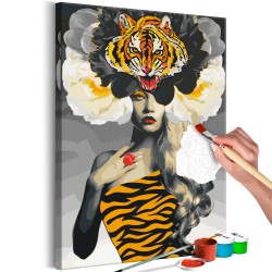 DIY canvas painting  Eye of the Tiger