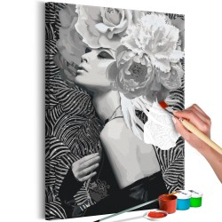 DIY canvas painting  Silver Princess