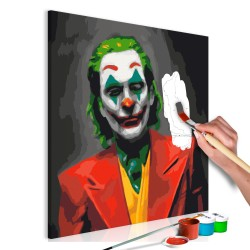 DIY canvas painting  Joker