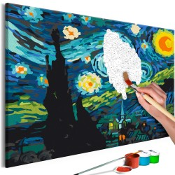 DIY canvas painting  Magic City
