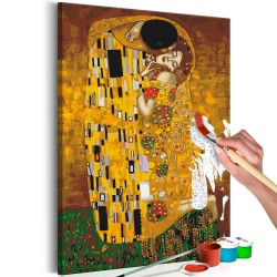 DIY canvas painting  Klimt The Kiss