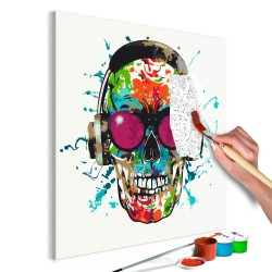 DIY canvas painting  Disc Jockey