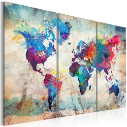 Canvas Print  World Maps Modern Style