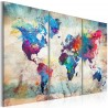 Canvas Print - World Maps: Modern Style