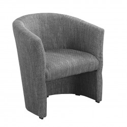 Modern Armchair Bonnie, Grey fabric FAST DELIVERY