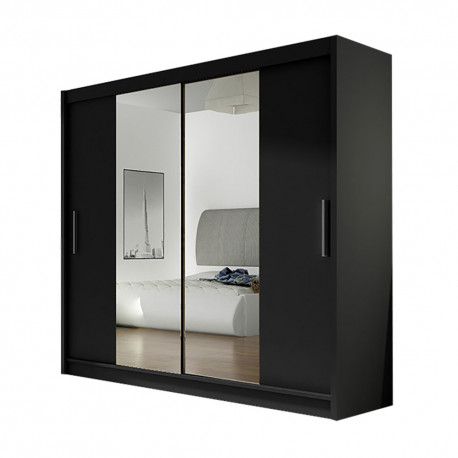Modern Wardrobe Agnes 2 with sliding doors and mirror (180cm) FAST DELIVERY