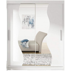 Modern Wardrobe Agnes S with sliding doors and mirror (180cm) FAST DELIVERY