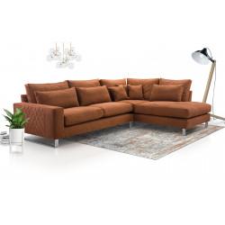 Big corner sofa Corrie K with many cushions 314cm 10'3''