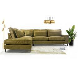 Big corner sofa Corrie Metal K with many cushions 314cm 10'3''