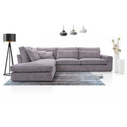 Big corner sofa Coby K with many cushions 314cm 10'3''